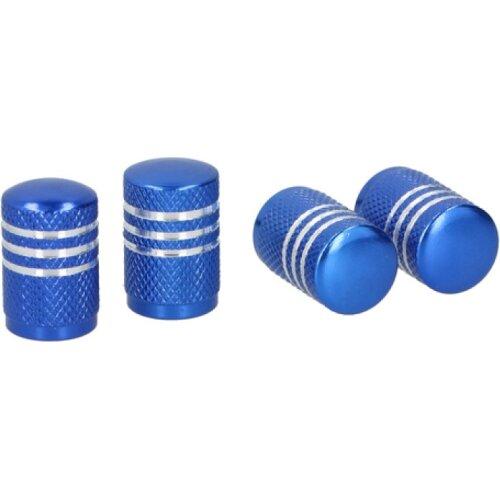 valve caps AV aluminum blue 4 pcs