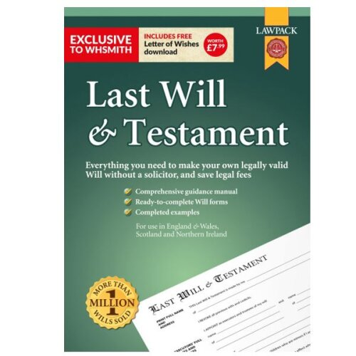 LawPack Last Will & Testament Kit With Step By Step Guidance Manual & Worksheets