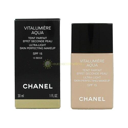 Chanel Vitalumiere Aqua Ultra Light Skin Perfecting Make Up SPF15 - # 10 Beige 30ml/1oz