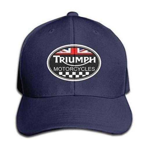 Unisex Adult Triumph Logo Black Solid Caps/Snapback Hats/Baseball Caps