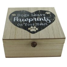 Dog Memory Box Keepsakes Dog's Leave Pawprints On Your Heart Ashes