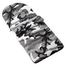 Fleece Footmuff Compatible With Babyzen Yoyo Zen - Grey Camouflage