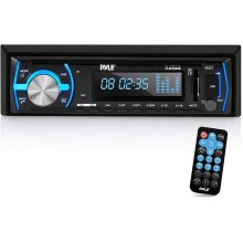 Pyle Marine Bluetooth Stereo Radio - 12v Single DIN Style Boat In dash Radio Receiver System with Built-in Mic,Digital LCD,RCA,MP3,USB,SD,AM FM Radio