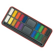 1 Pack - Major Brushes Watercolour Painting Tin-18 Block