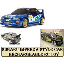 Subaru Impreza style RC Control Car SMALL 1:16