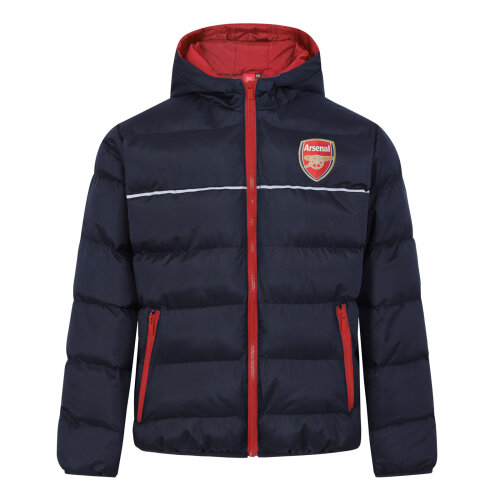 (4-5 Years) Arsenal FC Official Football Gift Boys Quilted Hooded Winter Jacket
