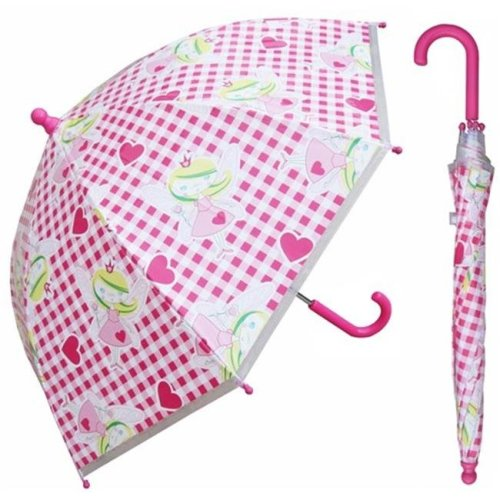RainStoppers W107CHFAIRY 32 in. Childrens Fairy Print Plastic Canopy Umbrella, 3 Piece