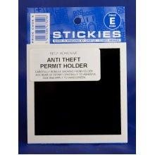 Anti Theft Permit Holder Sticker - Security Castle Promotions Black V494 -  security permit holder castle promotions black v494