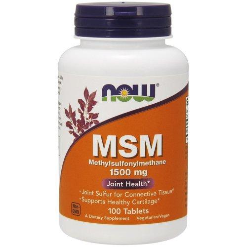 NOW Foods  MSM Methylsulphonylmethane, 100 tabs (1500mg)