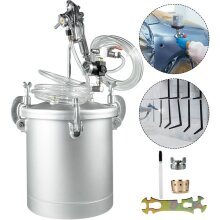 Paint Tank Pressure Pot, Air And Fluid Hoses For House Keeping Or Commercial Painting