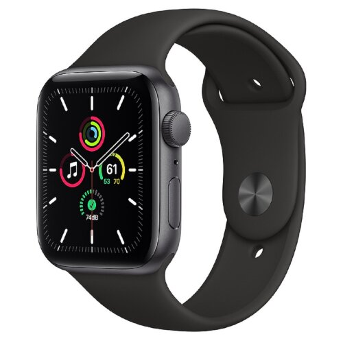 Apple Watch SE GPS 44mm Space Gray Aluminium Case with Black Sport Band