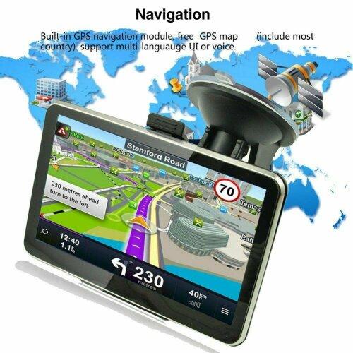 5 IN 8GB Sat Nav Car Truck GPS Navigation Free POI Maps Speedcam Updates