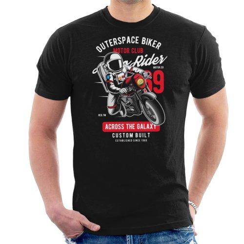 Outer Space Biker Motor Club Men's T-Shirt