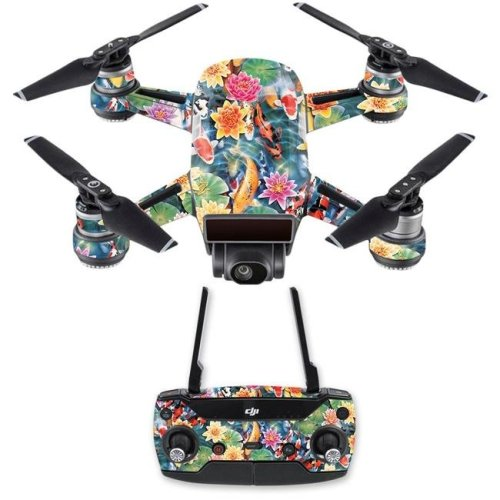 MightySkins DJSPCMB-Koi Pond Skin Decal for DJI Spark Mini Drone Combo Sticker - Koi Pond