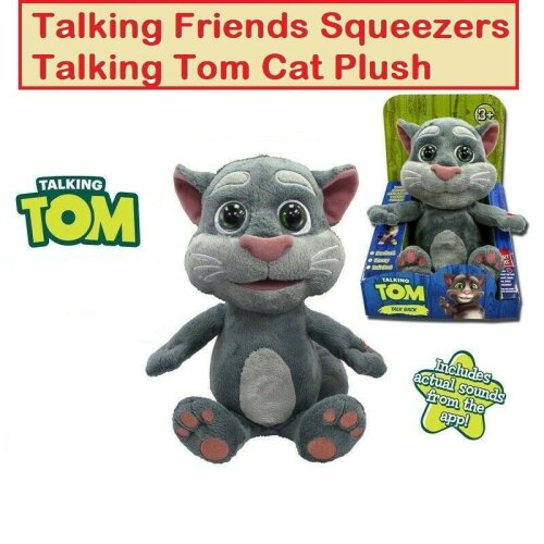 9'' Talking Tom Cat Plush Toy With Different Voices