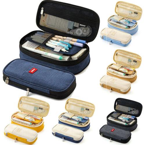 Large Capacity Student Pencil Case School Pen Bag Storage Make Up Organizer