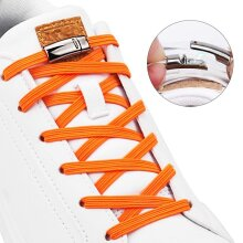 Magnetic Shoelaces Elastic No Tie Kids and Adult Flat Sneakers Quick Lazy Laces Magnetic Buckle