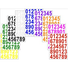 Numbers Stickers Label Self Adhesive Peel Off Sticky 3.5cm High