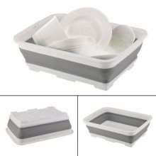 Collapsible Washing Up Bowl Dish Drainer Draining Folding Water 10L