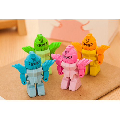 Cool Transformer Style Robot Shape Puzzle Rubber Erasers Toys Party Gift Bag Fillers Assorted 2 Pc