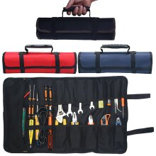 22 Pocket Roll Up Tool Organizer Wrench Tool Spanner Canvas Storage Bag