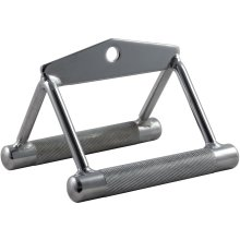 Twin Seated Row V Lat Double Stirrup Handle Grip Bar Cable Multi Gym Attachment