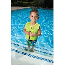 Poolmaster 50566 Learn-to-Swim Dino Kid's Swim Vest 1-3 Years Old