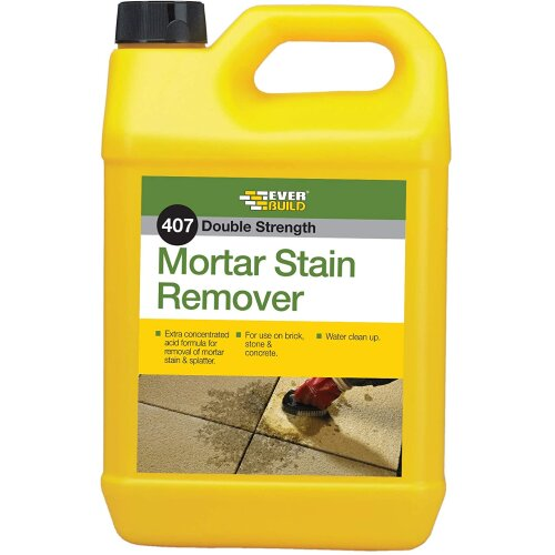 Everbuild 407 Mortar Stain Remover 5 Litre Double Strength Water Clean Up