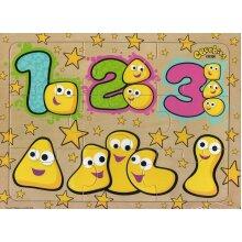 CBeebies Wooden 9 Piece Jigsaw Puzzle - 123