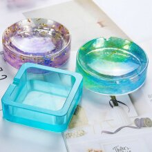 DIY Silicone Ashtray Mold Epoxy Resin Making Mould Casting Jewellery Craft Tool
