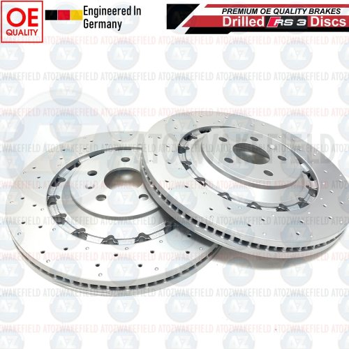 FOR AUDI RS3 17- FRONT 2 PIECE FLOATING BRAKE DISCS 8V0615301R PAIR 370mm