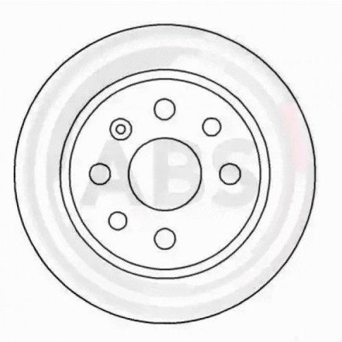 Rear Pair (2x) of Brake Disc A.B.S. 16488