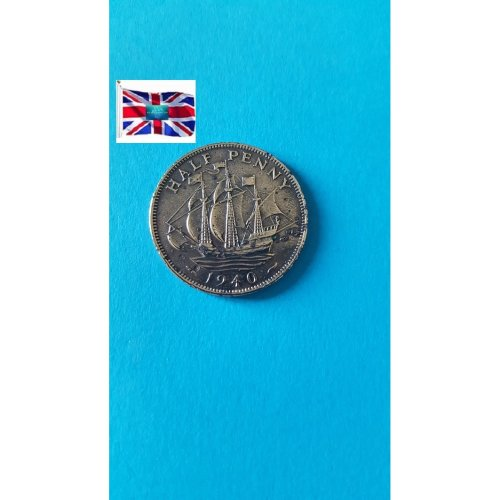 "Great Britain 1940 ""½ Penny - George VI with 'IND:IMP'"