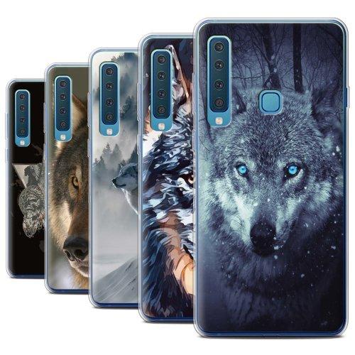 Wild Animal Predator Wolf Samsung Galaxy A9 2018 Phone Case Transparent Clear Ultra Soft Flexi Silicone Gel/TPU Bumper Cover