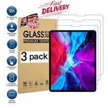 (3 Pack) 9H Hard Ultra Clear Anti Fingerprint Scratch Resistant HD Tempered Glass Screen Protector for Apple iPad PRO 12.9 inch (2021/2020/2018)