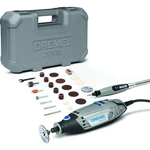 Dremel 3000 Rotary Tool and Multi-Tool Kit with 1 Attachment 25 Accessories, Variable Speed 10000-33000rpm for Cutting, Sanding, Drilling, Polishing