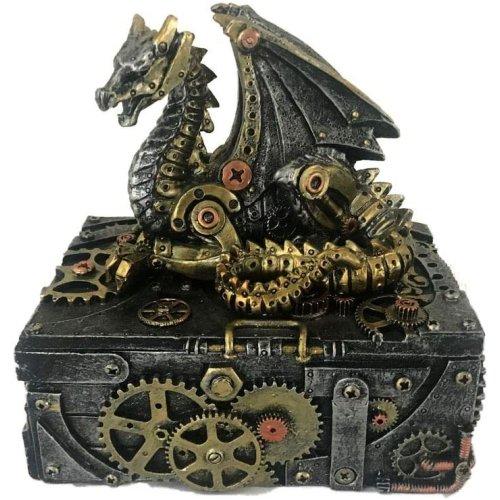 Nemesis Now Secrets of the Machine  Box  19.5cm Silver