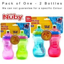 Nuby Simply POP UP Sipper Kids Bottles Toddler Sipeez - 2pk
