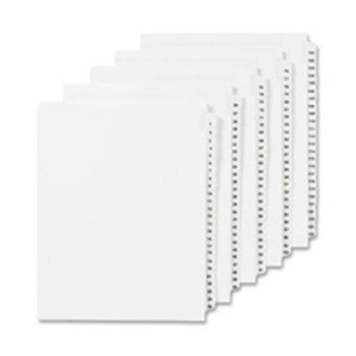 Numeric Divider, 45, Side Tab, 11 in. x 8.5 in., 25-PK, White