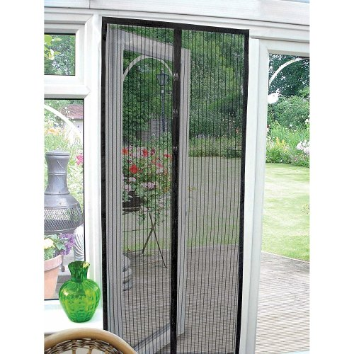 (Black) GEEZY Magnetic Mesh Insect Curtain | Fly, Bug & Mosquito Screen
