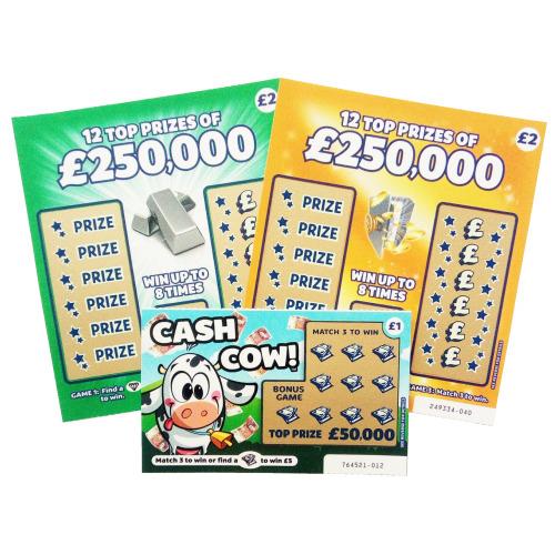 9pcs Mixed Fake Scratch Cards | Lottery Win £50,000 Practical Joke