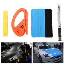4IN1 Car Vinyl Felt Squeegee Snitty 3M Cutter Blades Window Wrapping