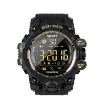 EX16S Waterproof Smart Sport Watch Bluetooth Pedometer Men Wristwatch Black