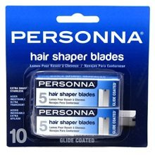 Personna Hair Shaper Blades 10 Count (2 Pack)