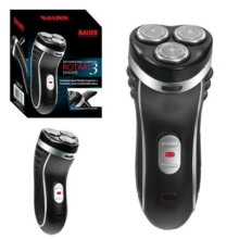 Rechargeable Cordless Men's Rotary 3 Three Headed Shaver with Trimmer - Bauer