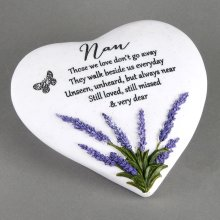 Mother'S Day Gift Thoughts Of You Heart Stone / Lavender - Nan - Widdop