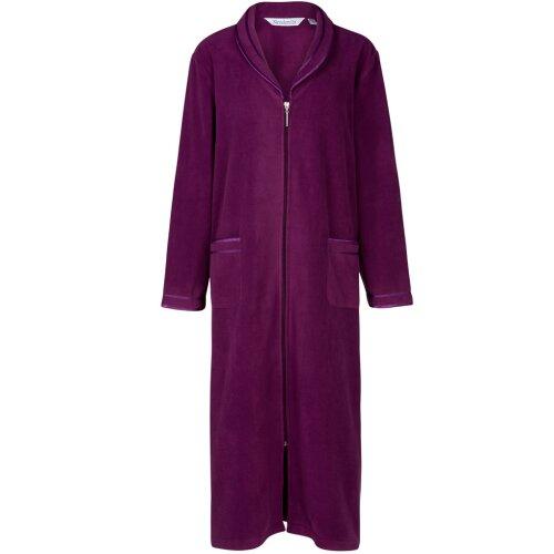 "Slenderella Purple 46"" Long Sleeve Zip Up Housecoat Robe HC6322"