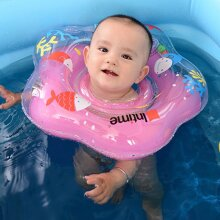 Cute Baby Float Neck Ring Safety PVC Inflatable Swimming Bathing Neck Circle