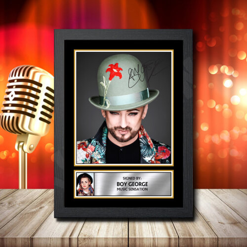 Boy George - Signed Autographed Music Star Print