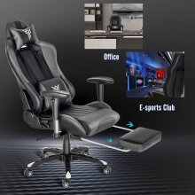 ELECWISH Gaming Chair Ergonomic Massage Office Chair with Footrest